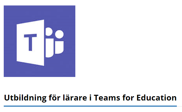 Utbildning för lärare i Teams for Educatin